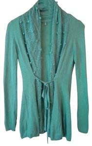 Anthropologie Aqua Lightweight Tie Front Pointelle Cardigan