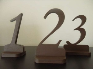 Brown Rustic Table Numbers For Reception Decoration