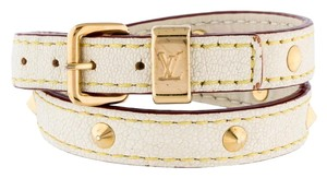 Louis Vuitton Gold-tone Louis Vuitton Suhali gold stud wrap bracelet
