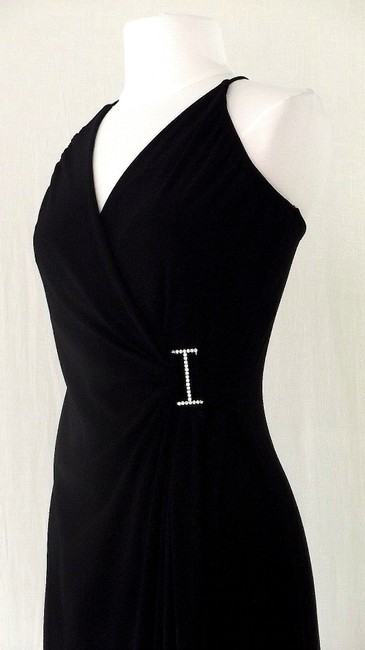 Black Maxi Dress by Other Spandex Polyester Fitted