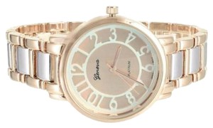 Geneva Platinum Rose Gold Tone Watch Geneva Platinum Womens Elegant