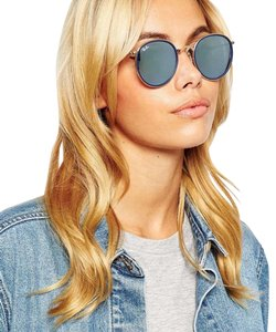Ray-Ban Round Frame Silver Flash