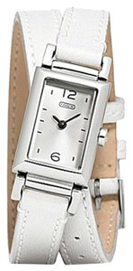 Coach Coach Madison 14501598 White Leather Double Wrap Womens Watch