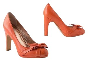 Anthropologie Orange Pumps