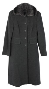 Alberta Ferretti Wool Blend Fur Coat