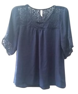 Xhilaration Top Dark Blue