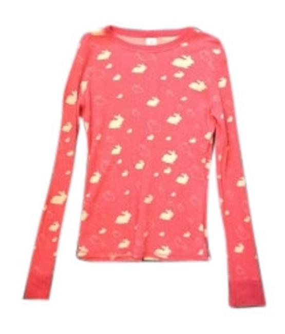 Preload https://item5.tradesy.com/images/coral-thermal-long-sleeve-w-bunny-print-tee-shirt-size-8-m-18984-0-0.jpg?width=400&height=650