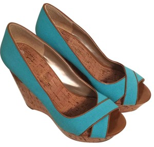 Jessica Simpson Blue Wedges
