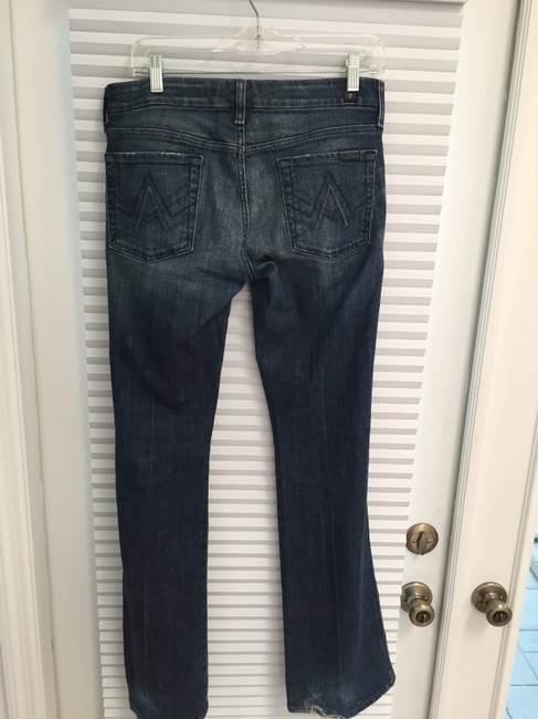 Seven7 Boot Cut Jeans-Distressed