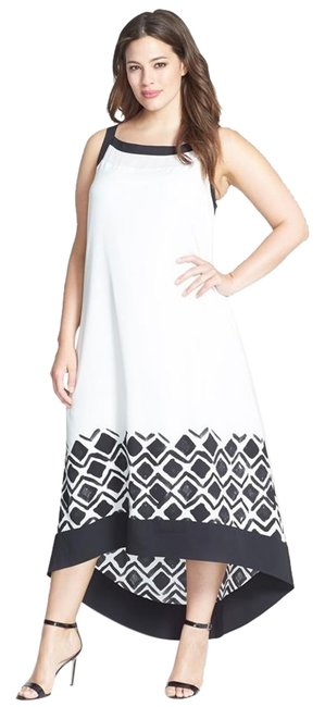 Preload https://item1.tradesy.com/images/dkny-ivory-chiffon-accent-high-low-casual-maxi-dress-size-18-xl-plus-0x-18984445-0-1.jpg?width=400&height=650
