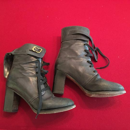 Chloé Lace Up Greyish black Boots