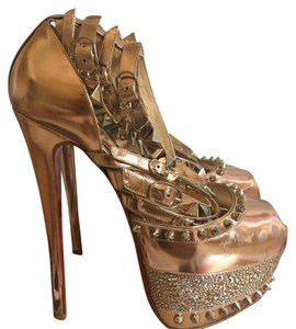 Christian Louboutin Rose Gold Platforms
