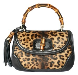 Gucci Calfhair Satchel in Brown