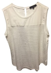 Sanctuary Clothing Sleeveless Slimming Silk Top White