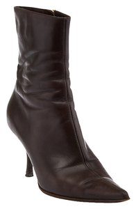 Sergio Rossi Leather Brown Boots