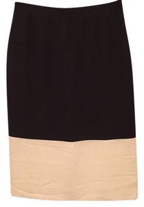 Club Monaco Color-blocking Skirt Black and white