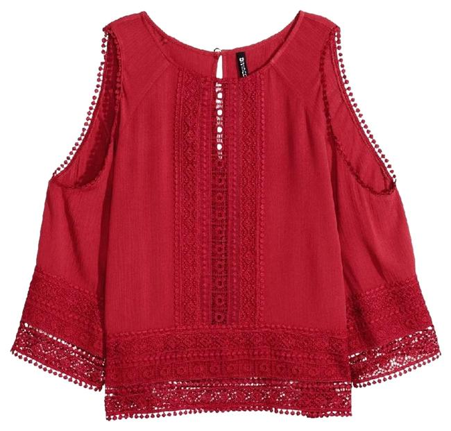 Preload https://item5.tradesy.com/images/h-and-m-red-open-shoulder-blouse-size-4-s-18985714-0-1.jpg?width=400&height=650