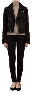 Balenciaga Suede Quilted Moto Leather Jacket