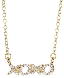 t+j Designs t+j Designs Swarovski Crystal XOXO Pendant Necklace