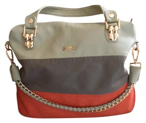 OPPO Tote in Pumpkin,grey and tan