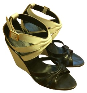 See by Chloé black and white Wedges