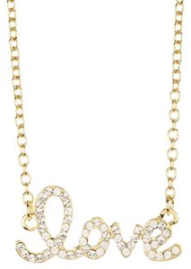 t+j Designs t+j Designs Swarovski Crystal Love Charm Necklace