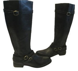 Ballasox by Corso Como Padded Insoles Straps Buckles Full Zippers Black leather new knee Boots