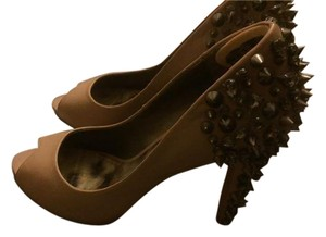 Sam Edelman Pump Spike Gem Nude Pumps