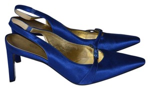St. John Swarovski Satin Blue Formal