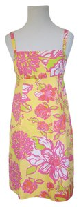 Lilly Pulitzer Resort Adjustable Straps Beach Flowers Floral Dress