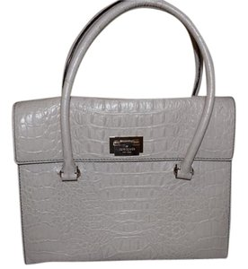 Kate Spade Leather Satchel in Ivory