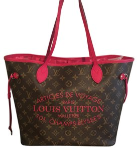 Louis Vuitton Ikat Neverfull Lv Limited Edition Tote in Rose