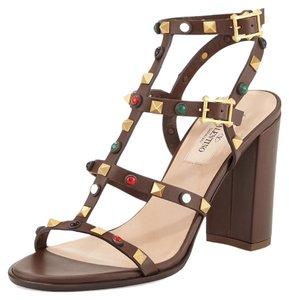 Valentino Rockstud Dark brown 37.5(EU) NWT Sandals