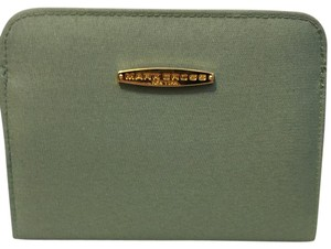 Mark Cross Small Mint Green Fabric Magnetic Cosmetic Pouch