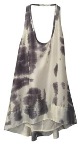 BCBGMAXAZRIA Going Out Low Back Bcbg Tank High Low Top cream/ grey