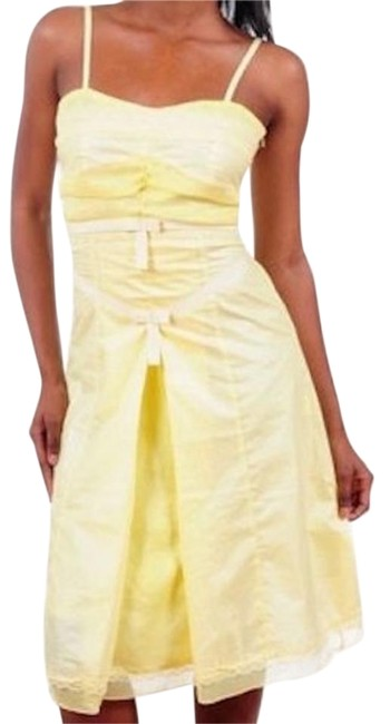 Preload https://item2.tradesy.com/images/yellow-inverted-pleat-bow-eyelet-trim-full-bottom-wedding-prom-knee-length-cocktail-dress-size-4-s-18987511-0-1.jpg?width=400&height=650