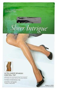 Sheer Intrigue Sheer Intrigue Ultra Sheer Spandex Control Top Size D-E