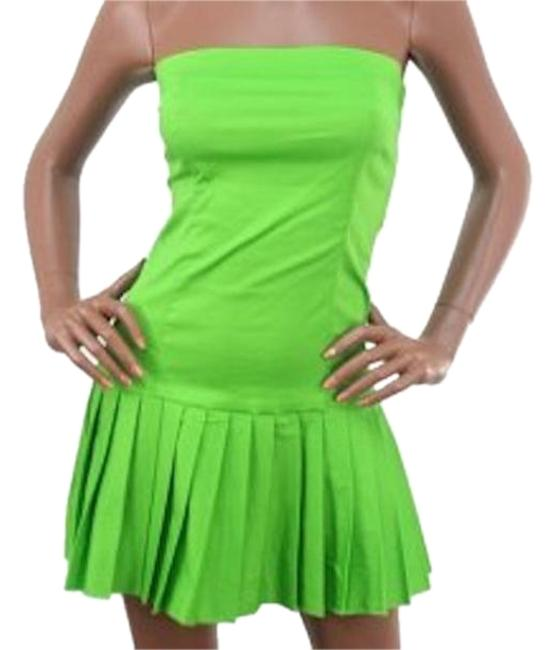Preload https://item3.tradesy.com/images/green-last-one-in-stock-strapless-pleated-skirt-fitted-tennis-style-above-knee-short-casual-dress-si-18987622-0-1.jpg?width=400&height=650