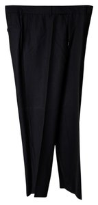 Hugo Boss Pinstripe Regular Fit Trouser/Wide Leg Jeans-Dark Rinse