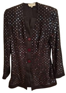 Giorgio Armani Sequin Classic Top Black/Sequin detail