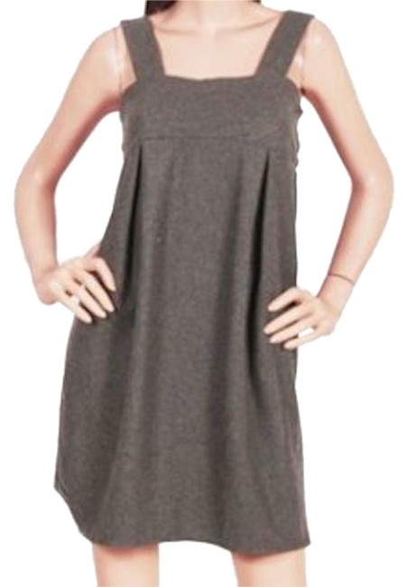Preload https://item2.tradesy.com/images/gray-simple-wool-blend-tie-back-romper-above-knee-workoffice-dress-size-10-m-18987826-0-1.jpg?width=400&height=650