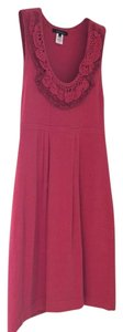 Nanette Lepore short dress Pink Raspberry Knit Ruffle on Tradesy