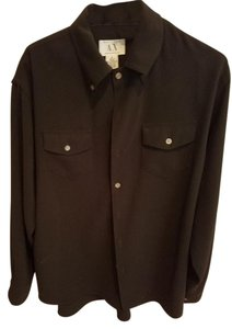 A|X Armani Exchange Dressup Classic Button Down Shirt Black