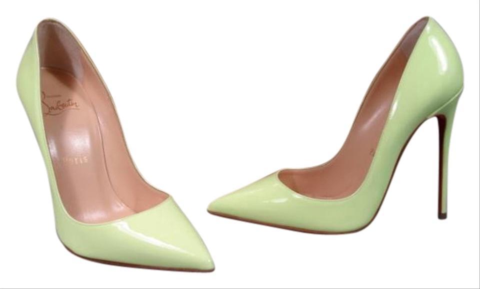 1c1deaf4398 Christian Louboutin New 35.5 5 Classic Style NEON Lime Green Pumps Image 0  ...