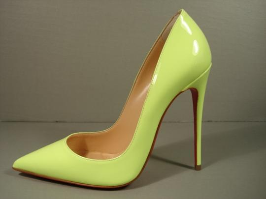 Christian Louboutin New 35.5/5 Classic Style NEON Lime Green Pumps
