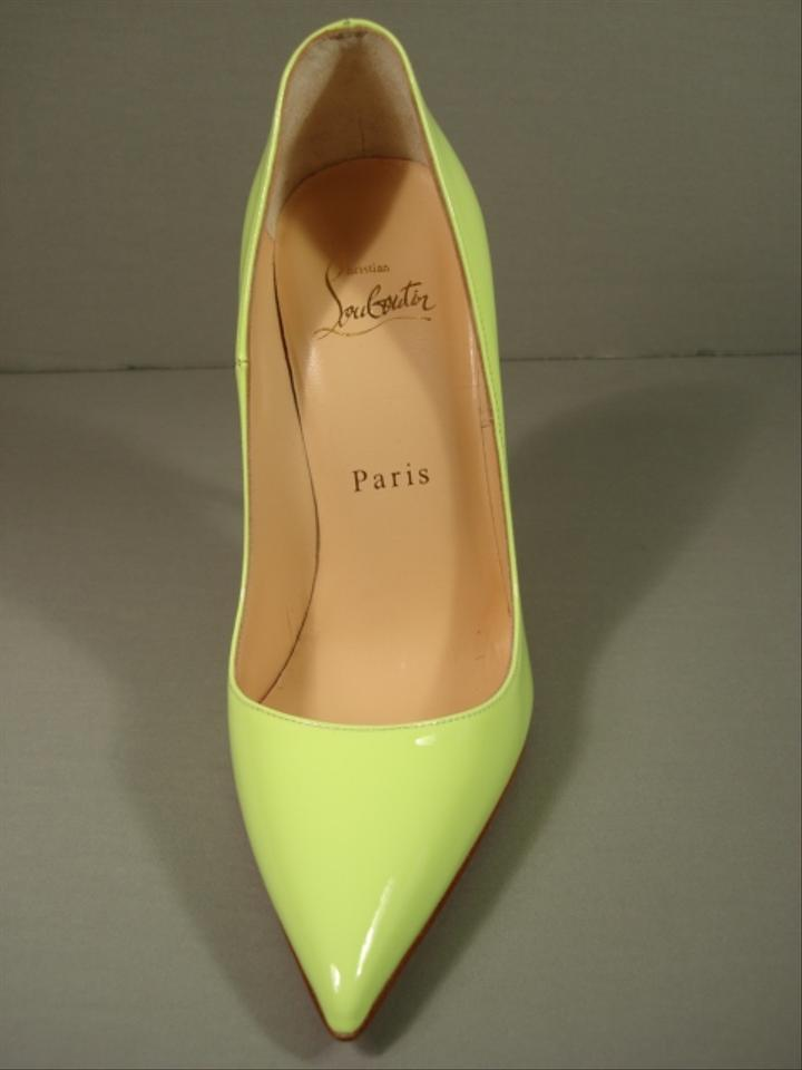1f2a8f6069a Christian Louboutin Neon Lime Green 35.5 Patent Leather So Kate Point Toe  Pumps Size US 5 Regular (M, B) 26% off retail