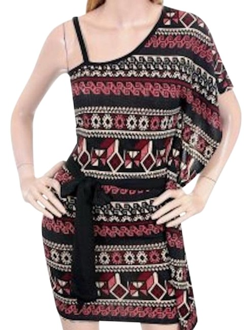 Preload https://item4.tradesy.com/images/black-red-aztec-mexican-print-one-shoulder-tie-waist-above-knee-night-out-dress-size-4-s-18988213-0-1.jpg?width=400&height=650
