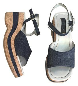 Kenneth Cole Reaction Denim Fabric Wedge Sandals