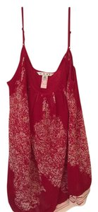 CAbi Top Red With ivory design