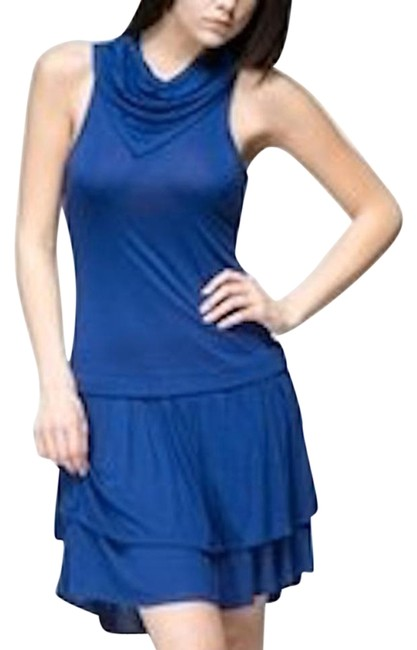 Preload https://img-static.tradesy.com/item/18988417/blue-tulle-anthropologie-sleeveless-cowl-tiered-jersey-above-knee-night-out-dress-size-8-m-0-1-650-650.jpg